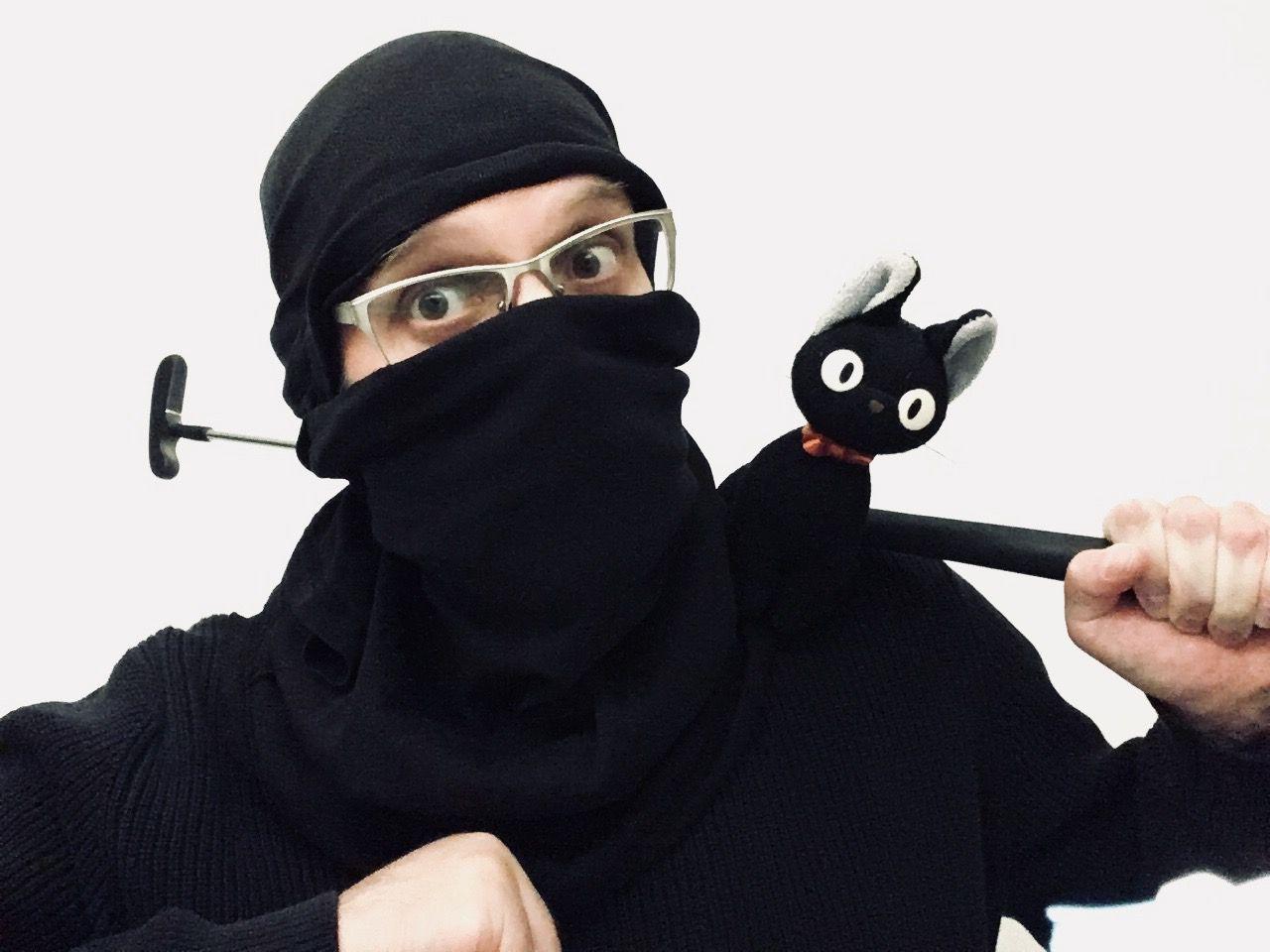 Torsten als Ninja verkleidet