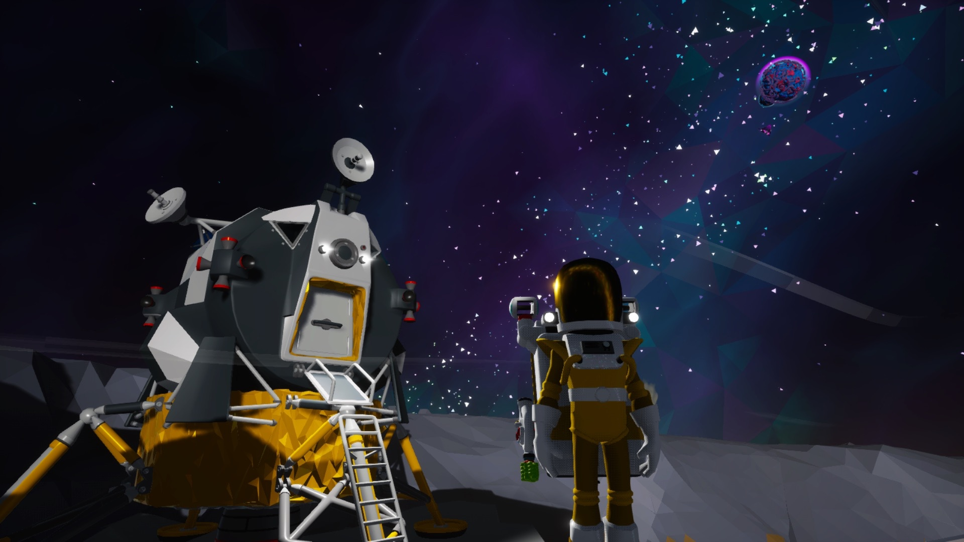 The lunar lander in Astroneer