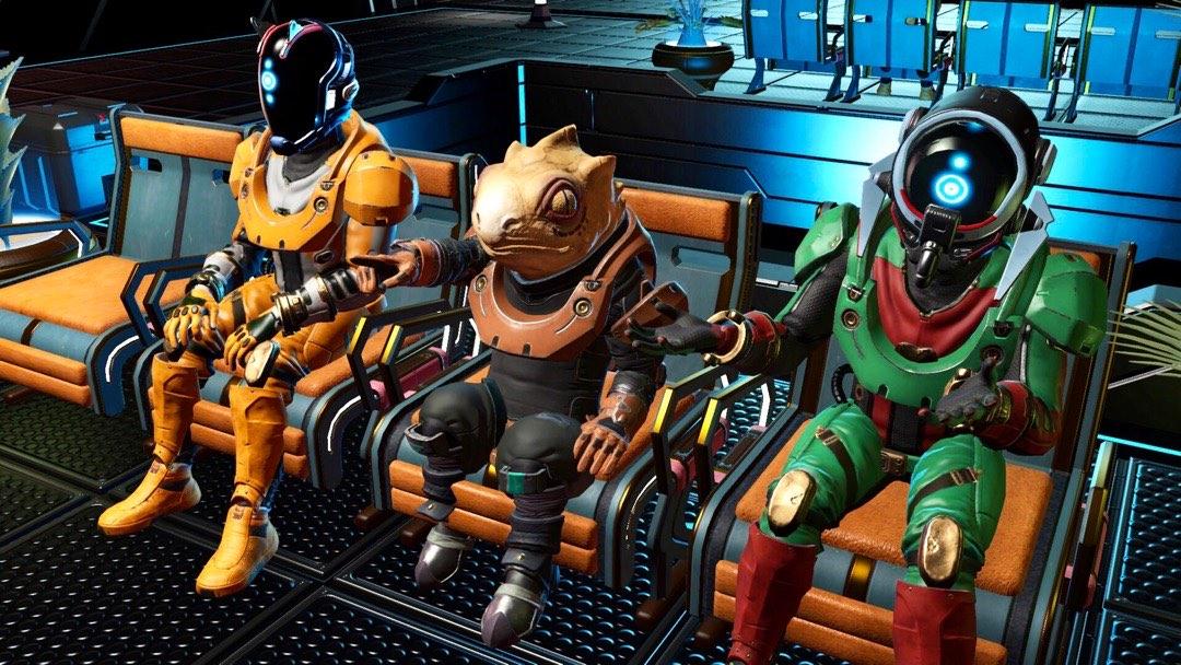 Drei Reisende auf einer Bank!