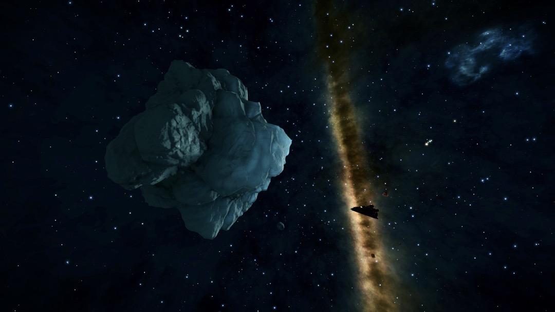 Ein riesiger Brocken Eis im Weltraum
