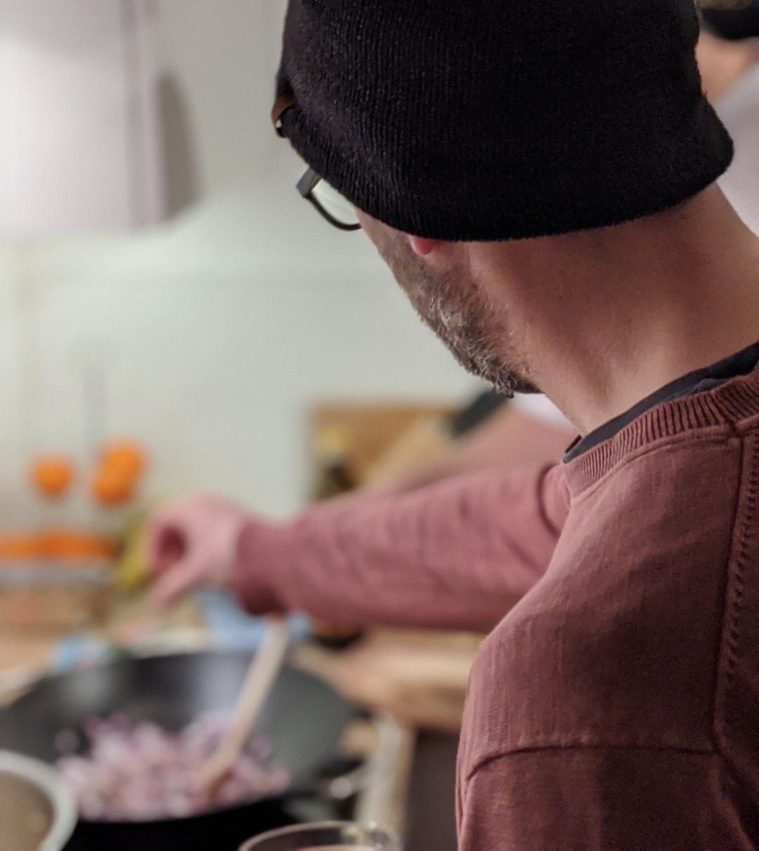 Kochninja bei der Arbeit
