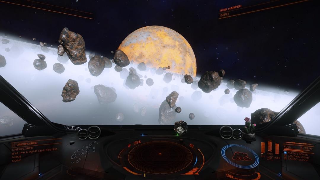 Block auf den Ring aus dem Cockpit