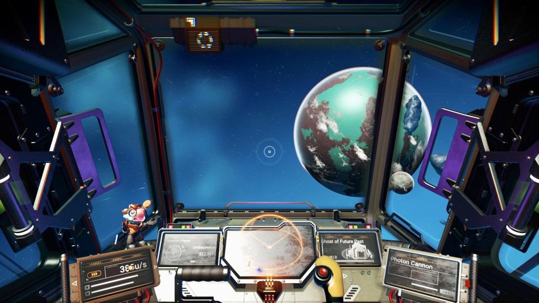 Ein Cockpit mit einer Wackelkopf Figur.
