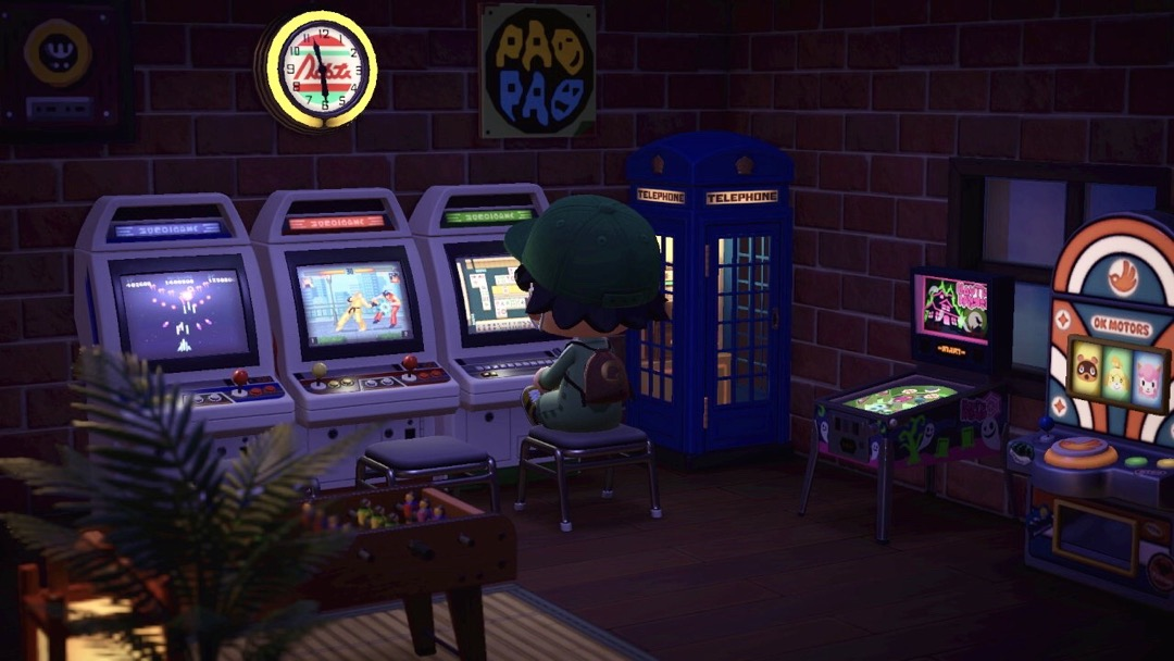Donswelt in seiner Animal Crossing Arcade