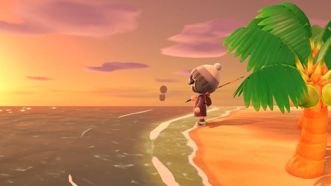 Ein Sonnenuntergang auf der Insel Koriander.