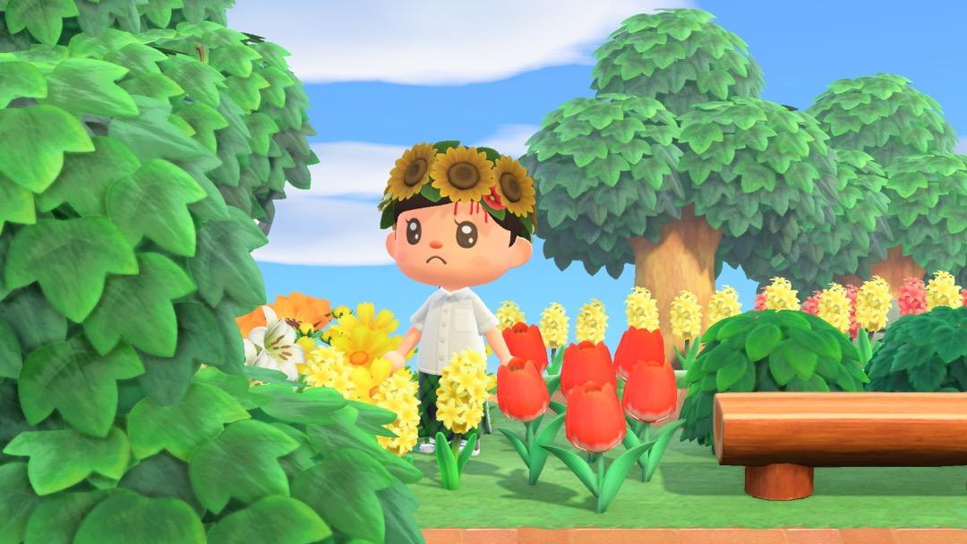 Das Midsommar Kinoplakat nachgestellt in Animal Crossing.