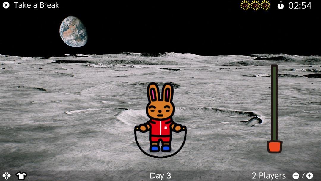 Ein seilspringender Hase auf dem Mond. Ja nun. Warum denn nicht?
