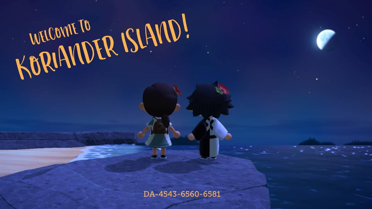Eine Postkarte von Koriander Island.