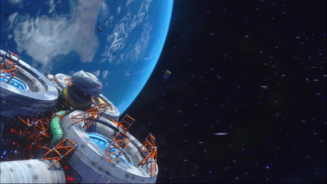 Eine Station in Rebel Galaxy Outlaw