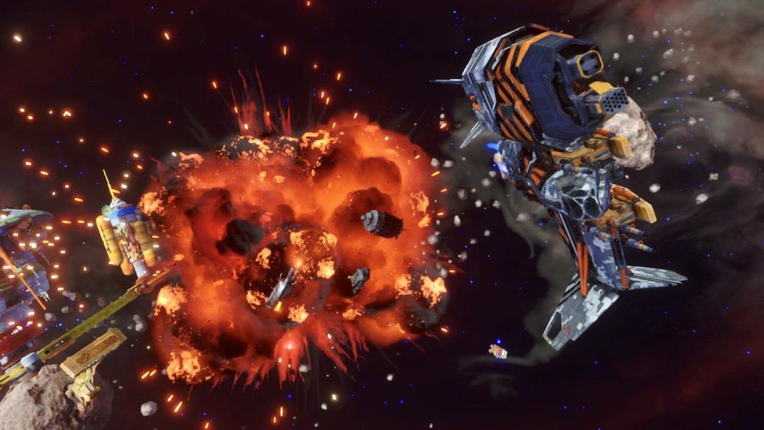 Meine Mattock vor einer sehr großen Explosion.