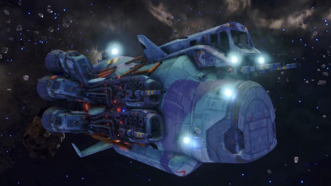 Eine Beluga in Rebel Galaxy Outlaw