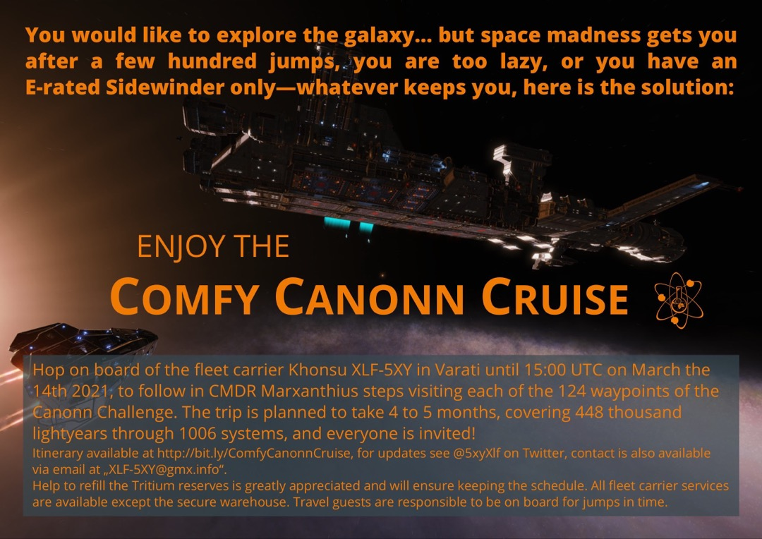 Der Comfy Canonn Cruise Flyer