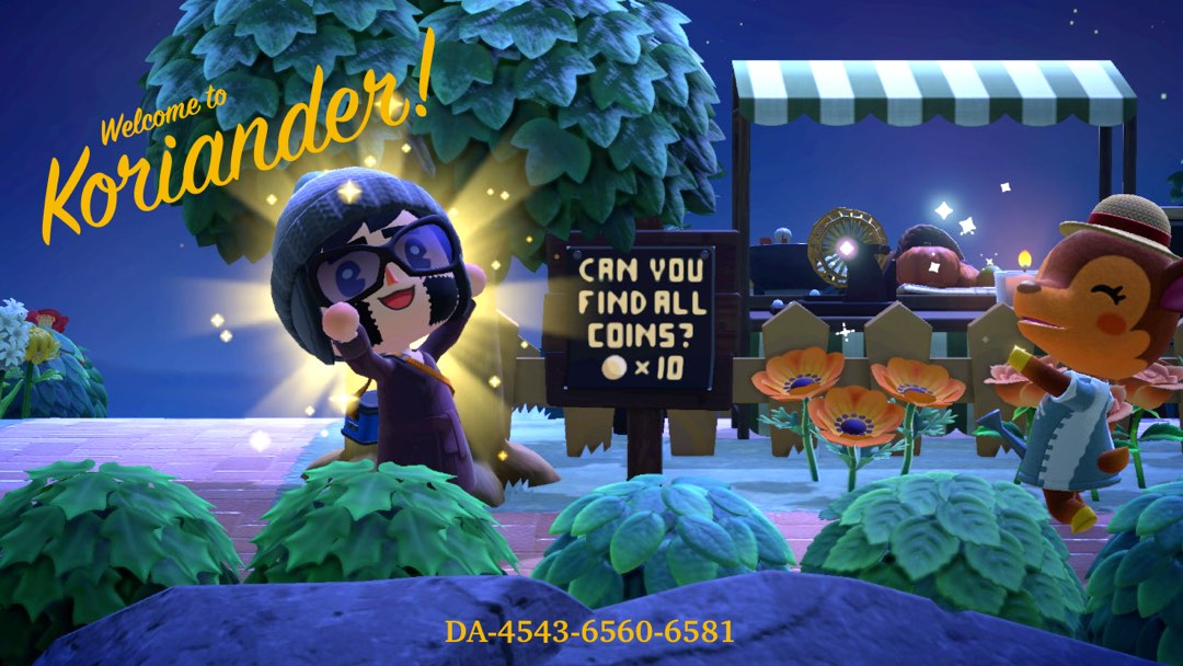 Schild in Animal Crossing: Can you find all coins?