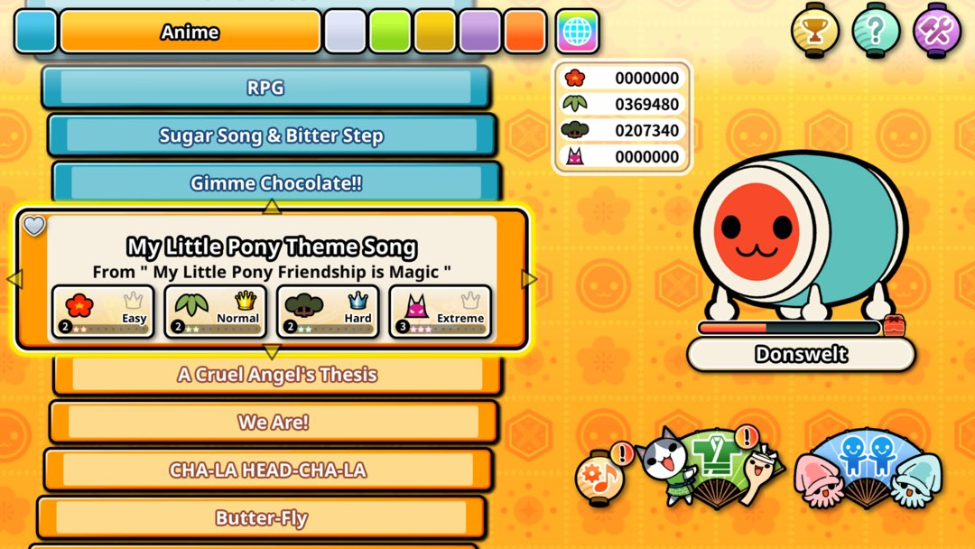 Der My Little Pony Song in Taiko No Tatsujin